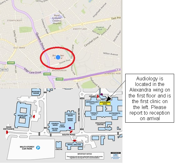Betsi Cadwaladr University Health Board | CI - Map and directions to on