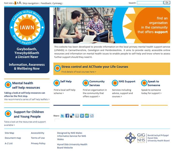 03/18 - Image - Screenshot of IAWN website