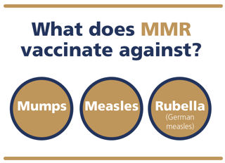 What does MMR vaccinate against