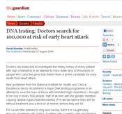 DNA Testing Guardian Article