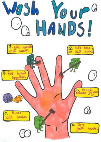 public health wales schools hand washing poster competition